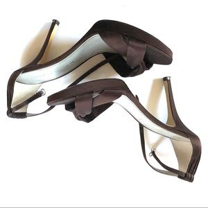 Marc Fisher brown satin high heels size 9.5M